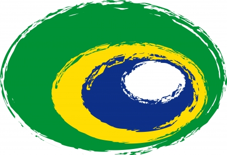 wold: Brazilian Style Flag Stock Photo