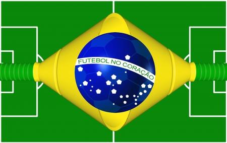 wold: Brazilian Soccer Flag