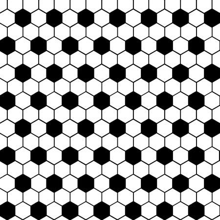 geometric shape: Tejido sello Forma geom�trica Hex�gono C - blanco y Negro