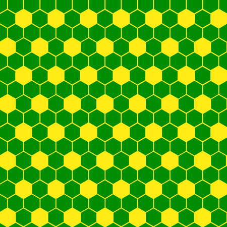 geometric shape: Tejido sello Forma geom�trica Hex�gono C - Verde y amarillo Foto de archivo