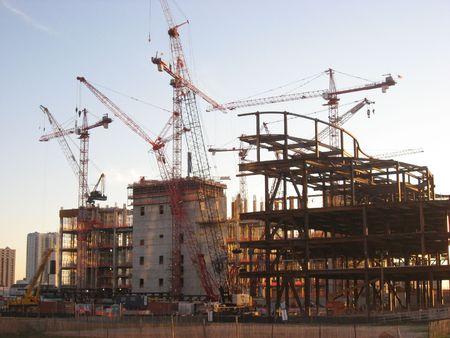 アトランティックシ ティーで新しいカジノの建設 写真素材 - 3569658