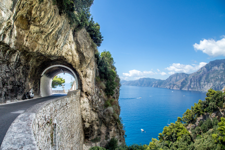 Incredible landscapes of the Amalfi Coast in Italy, Europe.
