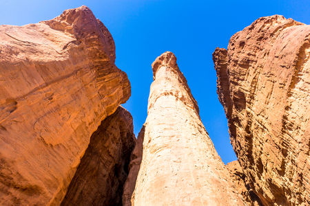 Eilat, Israel. Beautiful formed rocks photo