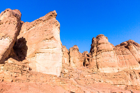 Eilat, Israel. Beautiful formed rocks photo
