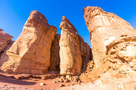 Eilat, Israel. Pillars of Salomao. Stock Photo