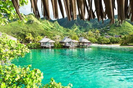 Moorea Island in the French Polynesia.