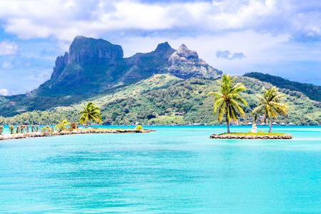 Bora Bora Island, French Polynesia. 免版税图像