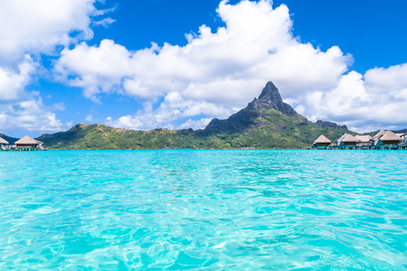 프랑스 령 폴리네시아 보라 보라 섬.