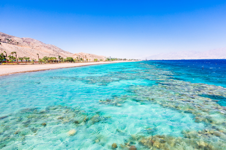 Eilat, Israel. Beautiful sea, beachs and mountais.