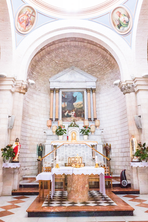 2nd September 2016, Nazareth, Israel - Basilica of the Annunciation