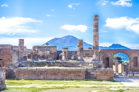 Ancient ruins of Pompeii, Italy 스톡 콘텐츠