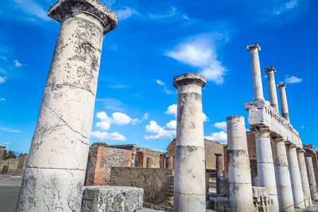 Ancient ruins of Pompeii, Italy Stock Photo