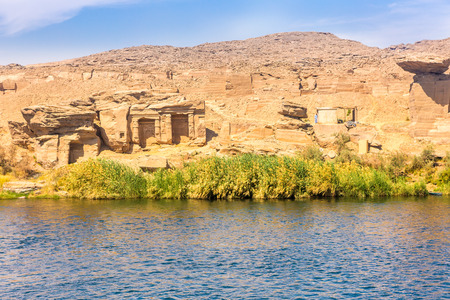 River Nile in Egypt. Life on the River Nile. Africa. 写真素材 - 98662733