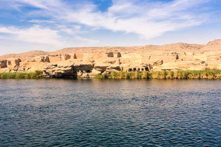 River Nile in Egypt. Life on the River Nile. Africa.