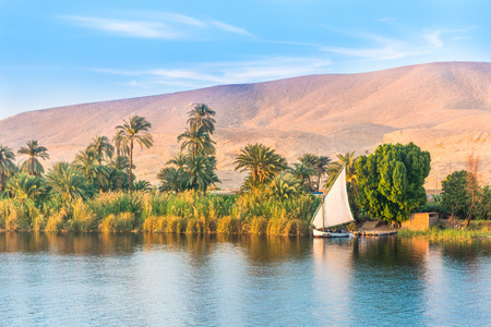Fiume Nilo in Egitto. Luxor, Africa.