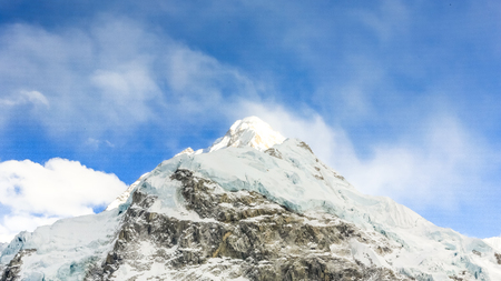 Trekking to Everest Base Camp in Nepal Stock Photo - 98821736