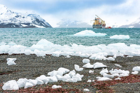 Beautiful landscape and scenery in Antarctica. Freezing