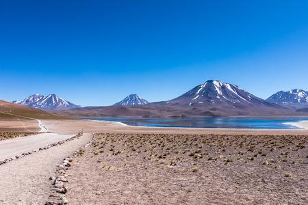 Lagunas Altiplanicas, Miscanti y Miniques, amazing view at Atacama Desert. Chile, South America. Imagens