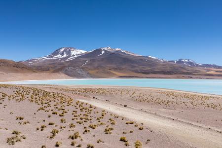 Atacama Desert, Chile. Salar Aguas Calientes. Lake Tuyacto. South America. Imagens