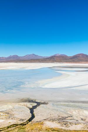 Atacama Desert, Chile. Salar Aguas Calientes. Lake Tuyacto. South America. 写真素材