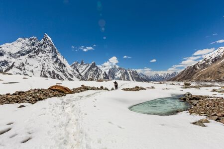 K2 mountain peak, second highest mountain in the world, K2 trek, Pakistan, Asia 写真素材 - 127422747