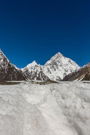K2 mountain peak, second highest mountain in the world, K2 trek, Pakistan, Asia 写真素材 - 127422751