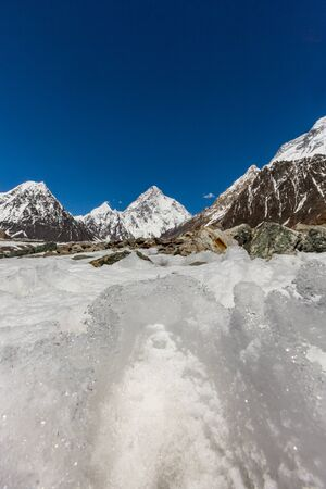 K2 mountain peak, second highest mountain in the world, K2 trek, Pakistan, Asia 写真素材 - 127422754
