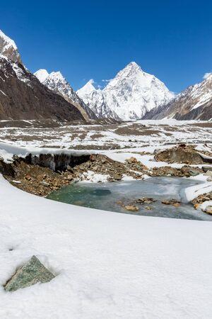 K2 mountain peak, second highest mountain in the world, K2 trek, Pakistan, Asia 写真素材 - 127422762