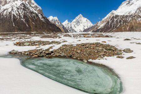 K2 mountain peak, second highest mountain in the world, K2 trek, Pakistan, Asia 写真素材 - 127422832