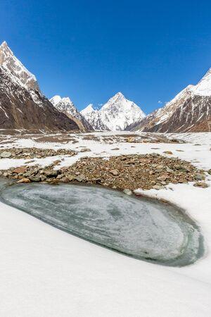 K2 mountain peak, second highest mountain in the world, K2 trek, Pakistan, Asia