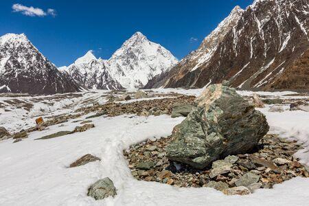 K2 mountain peak, second highest mountain in the world, K2 trek, Pakistan, Asia 写真素材 - 127423028