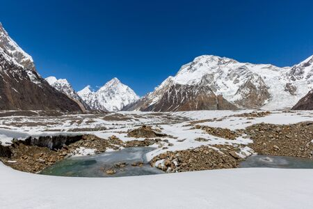 K2 mountain peak, second highest mountain in the world, K2 trek, Pakistan, Asia 写真素材 - 127423030