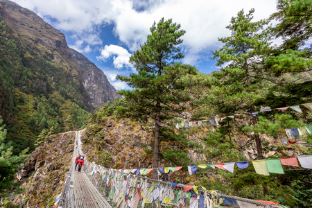 Trekking Everest Base Camp. Nepal. Asia.