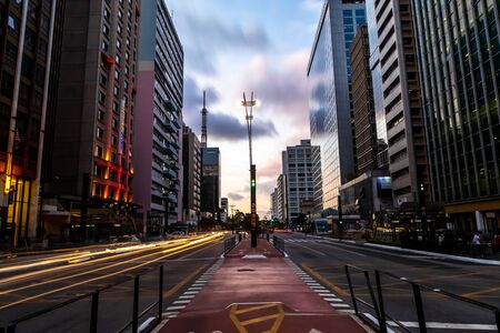 Paulista Avenue, financial center of the city and one of the main places of Sao Paulo, Brazil Stockfoto