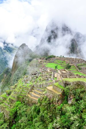 Machu Picchu, a Peruvian Historical Sanctuary . One of the New Seven Wonders of the World. Cuzco.
