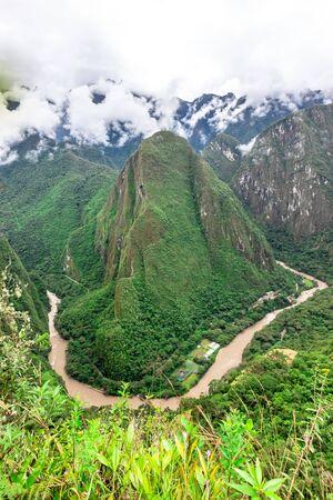 Machu Picchu, a Peruvian Historical Sanctuary. One of the New Seven Wonders of the World. Cuzco. Stock fotó