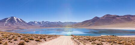 Lagunas Altiplanicas, Miscanti y Miniques, amazing view at Atacama Desert. Chile, South America.