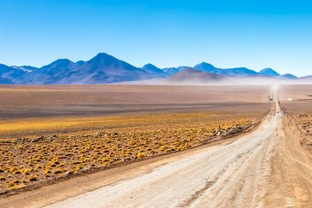 Scenic road in the Atacama desert, Chile. South America.