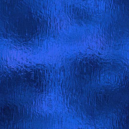 ブルーのホイル シームレス背景テクスチャ