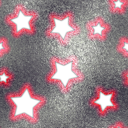 dcor: Seamless and Tileable Stroked Stars Silver Foil Sparkling Holiday Background. Stock Photo