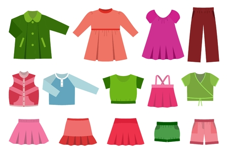 set of childrens clothes for girls.