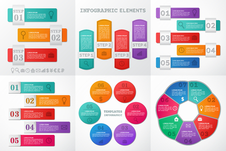 Infographics Elements. Set Infographic Frames, Templates For ...