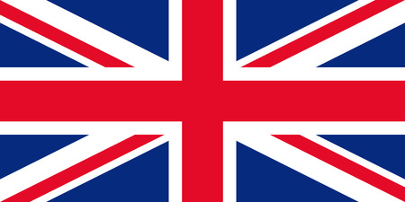 Great Britain flag. Vector. United kingdom UK official state sign. National flag of England with Union Jack. Colorful blue red colors illustration. Isolated icon.