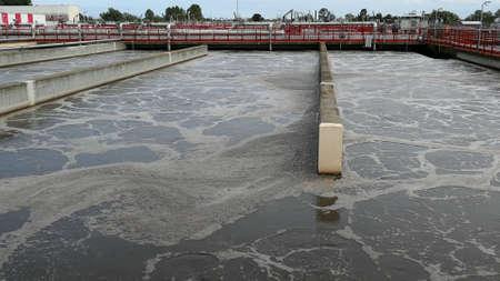 Aeration Tank At Sewage Treatment Farm