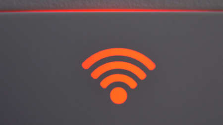 Wifi Internet Connection Signal Strength Indicator Light Turns Green and Red