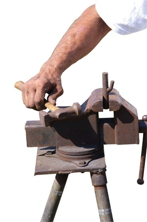 ironworks: vise clamping and holding parts to be worked