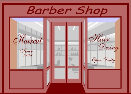 haircut shop Stock Vector - 15396940