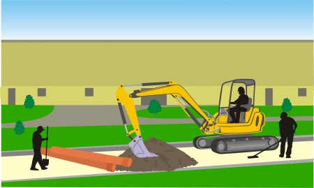 road worker: roadwork Illustration