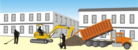 site: work on the site Illustration