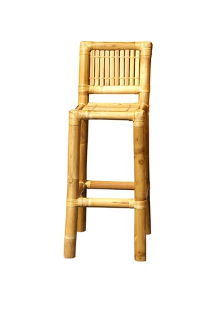 Bamboo bar chair Stock Photo